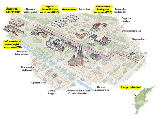Campus Karta Och Vagbeskrivning Vetenskapsomradet For Teknik