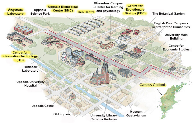 Campus And Maps Disciplinary Domain Of Science And Technology - Sweden map uppsala